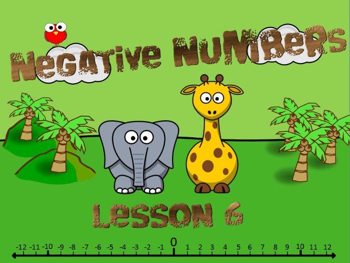 KS2: Negative Numbers (Lesson 6)
