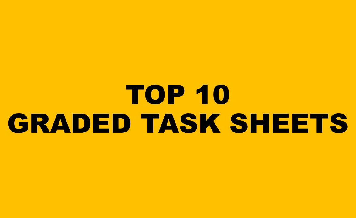 Top 10 Task sheets