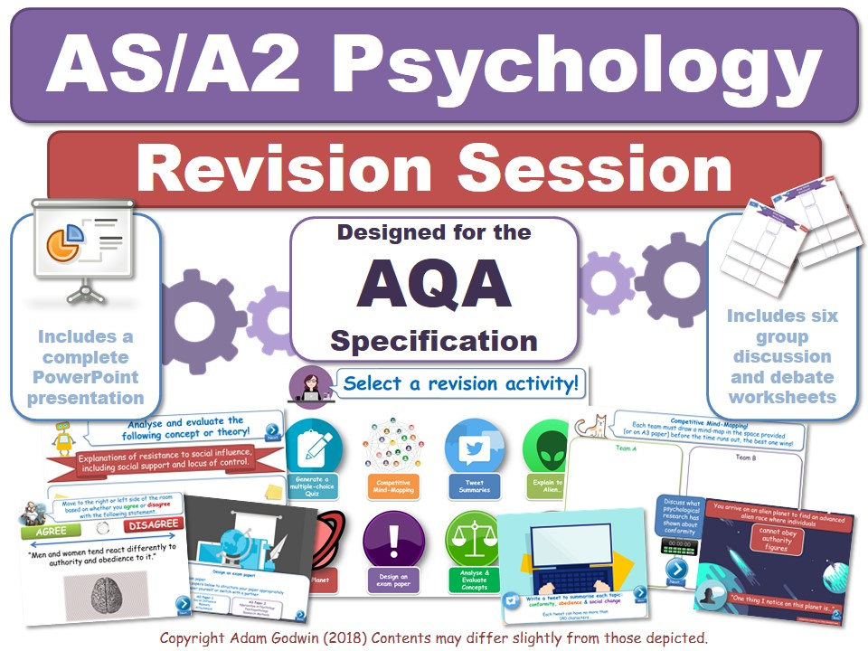 4.3.4 - Cognition & Development - Revision Session (AQA Psychology - AS/A2 - KS5)