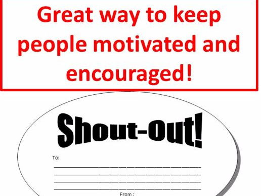 Shout-outs Affirmations Positive Psychology Reward Comment Bubble Cut-outs