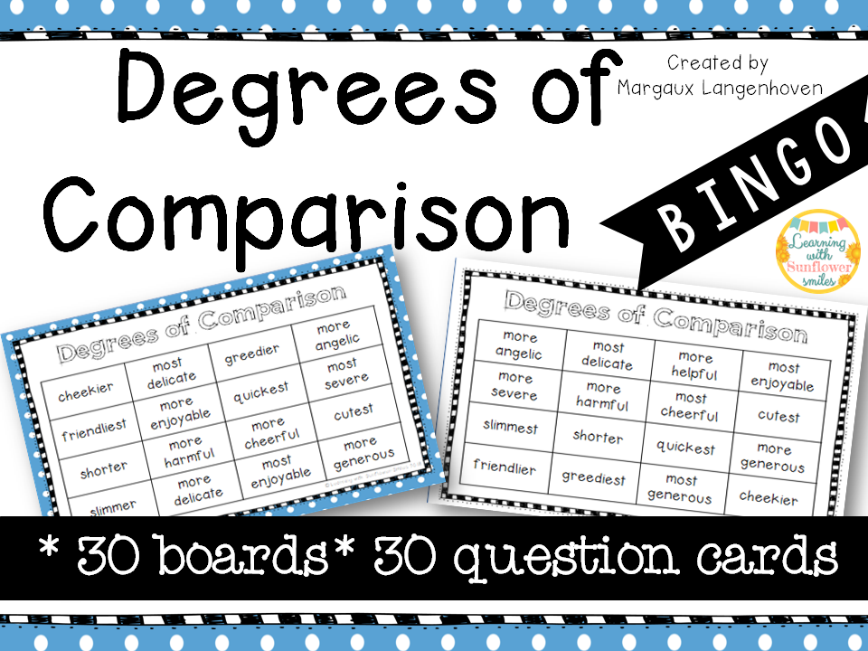 Degrees of Comparison BINGO