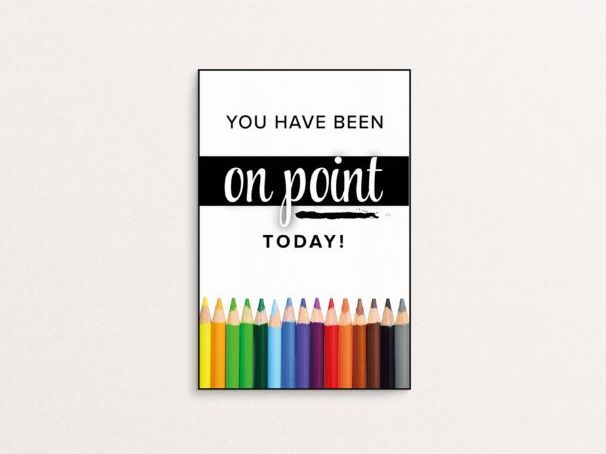 You have been on point today - A6 Handout