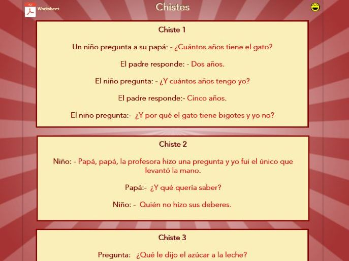 Spanish Joke Book - translation exercise