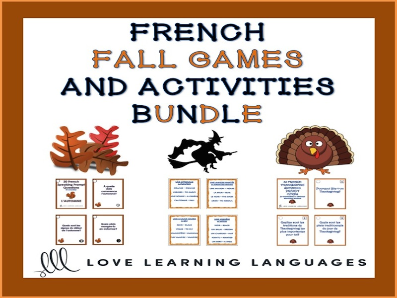 French Autumn Resource Bundle - L'automne français