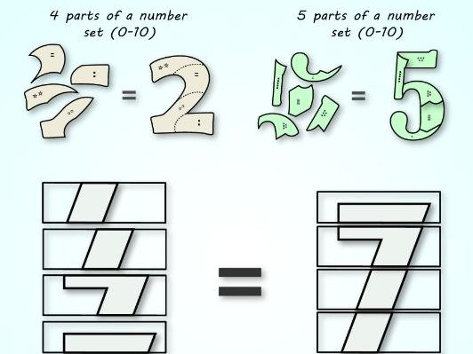 Numbers matching games and puzzles for KG & 1st grade students