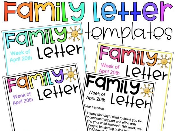 Family Letter Templates