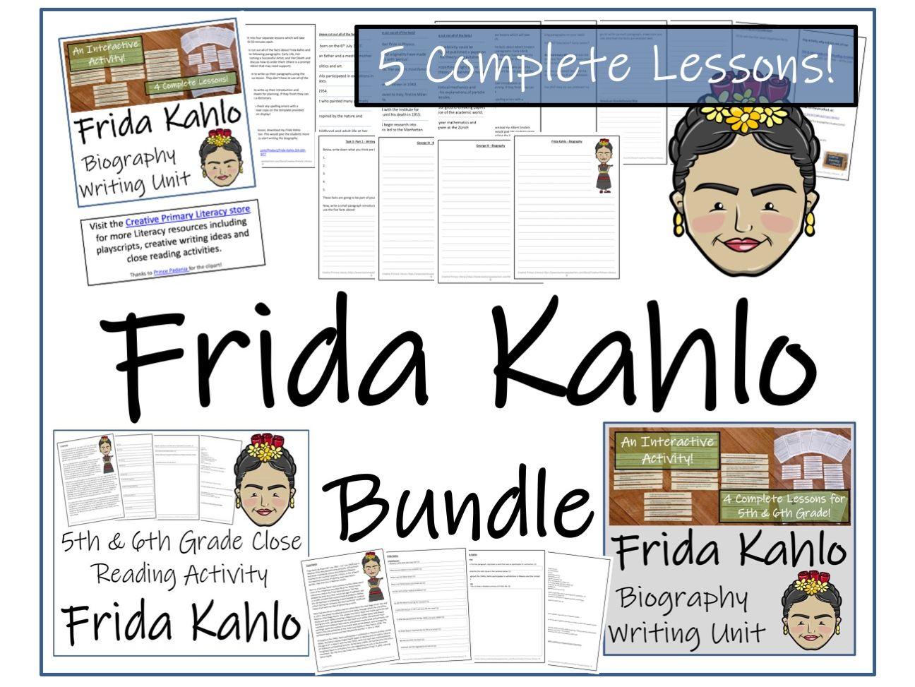 UKS2 Literacy - Bundle of Frida Kahlo Activities
