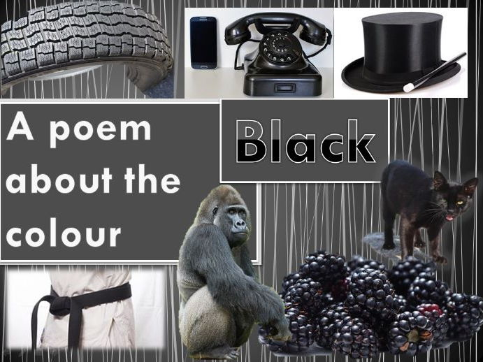 Powerpoint Poem about the colour BLACK. EYFS/KS1