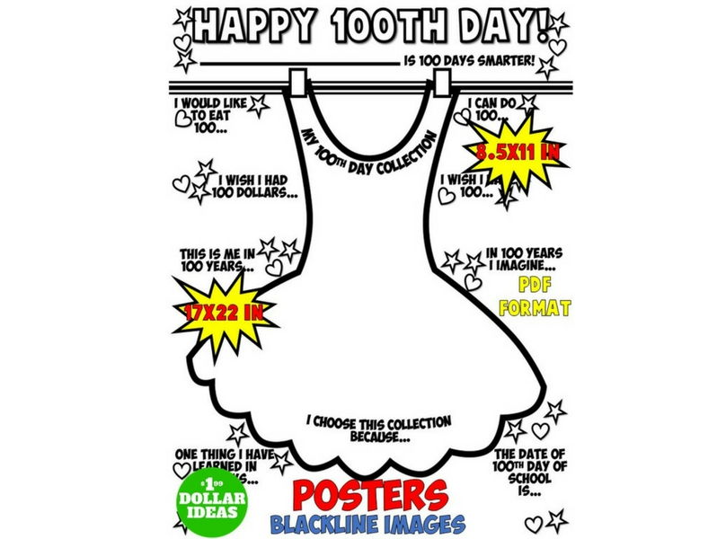 100TH DAY OF SCHOOL ACTIVITIES | POSTER | DRESS