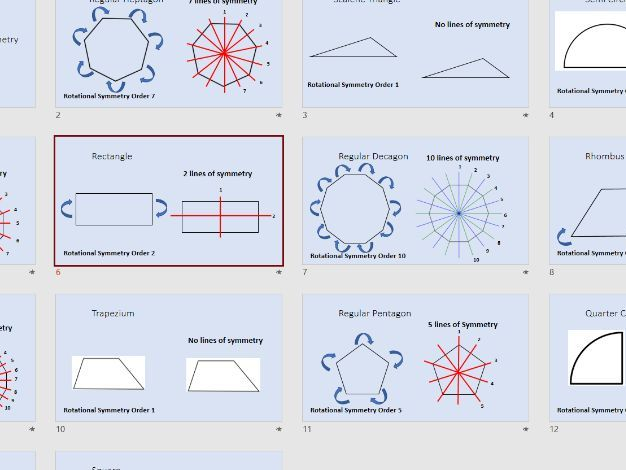 Lines of and Rotational Symmetry Starter