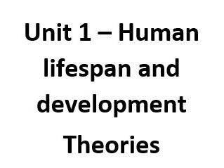 Health and Social Care - Unit 1 theories revision booklet