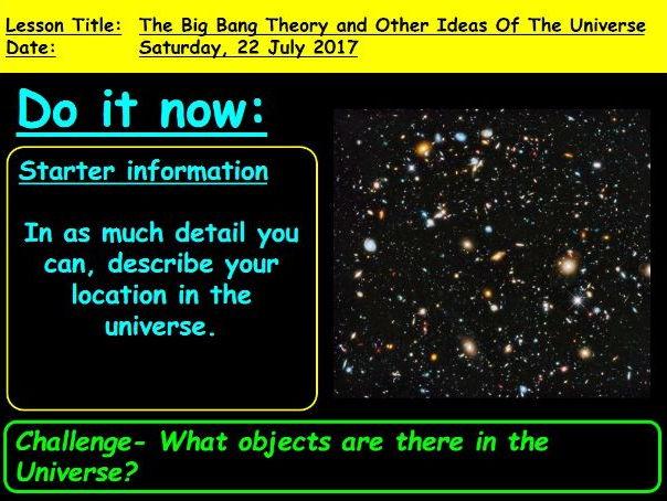 The Big Bang Theory: GCSE 9-1 Physics