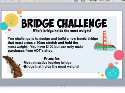 Bridge Challenge - PPT, work booklets and tasks