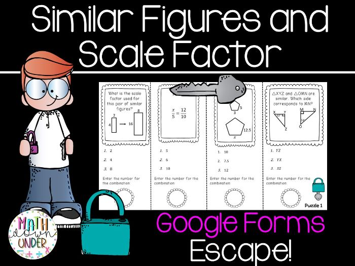 Similar Figures & Scale Factor - Distance Learning Escape Room Google Forms!