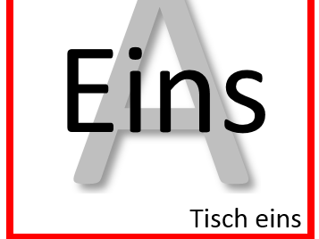 Kagen Table Labels in German