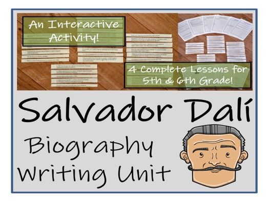 UKS2 Literacy - Salvador Dali Biography Writing Unit