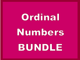 Numéros ordinaux (Ordinal Numbers in French) Bundle