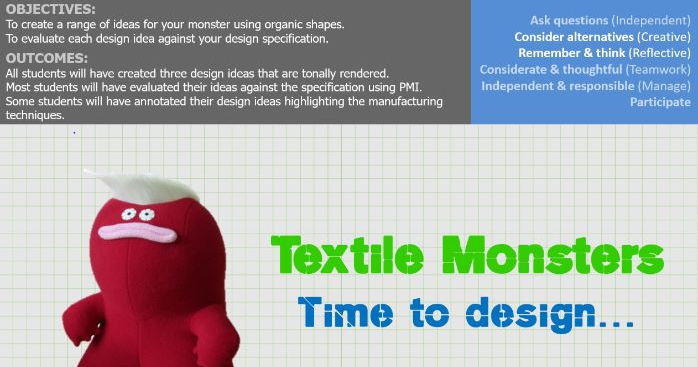 Textile Monster Project, full scheme of work, power point and worksheets