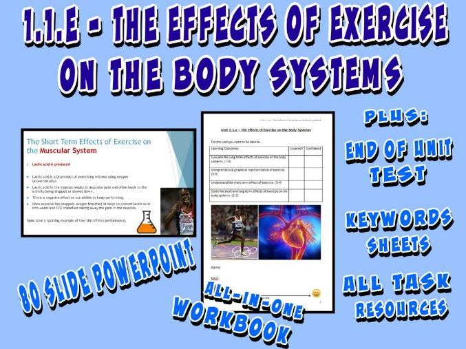 OCR GCSE PE 9-1 (2016) 1.1.e - The Effects of Exercise on the Body Systems - Unit of Work