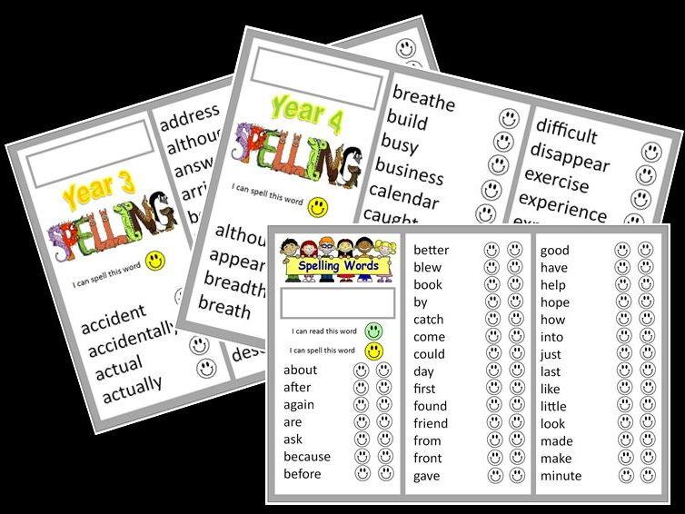Word banks (N.C. Y3-Y4 & high frequency words)