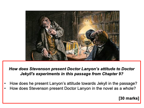Lanyon Exam Q (Jekyll+Hyde) - GCSE AQA - KS4