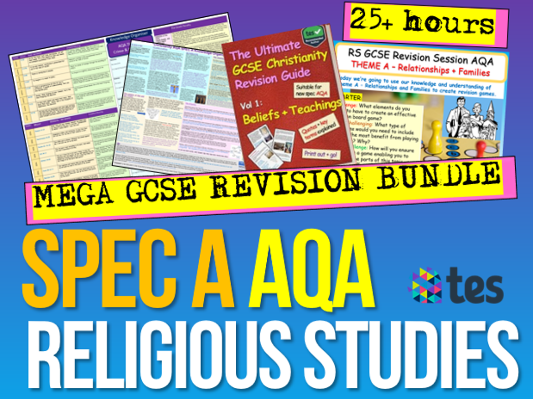 RS AQA Spec A Revision