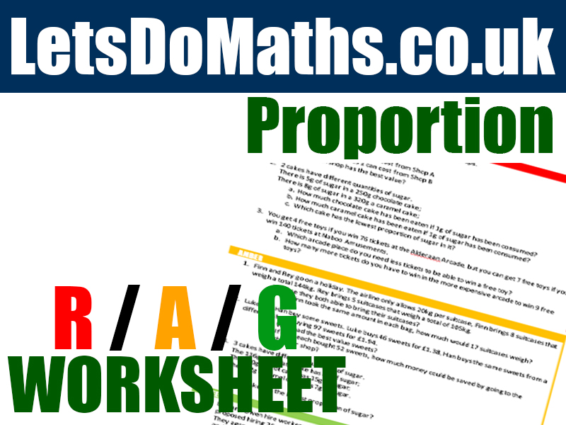 Proportion - Unitary Method Differentiated Worksheet