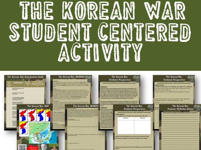 Korean War Student-Centered Activity (PDF & Google Docs)