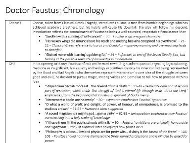 A Level English - Marlowe's Doctor Faustus