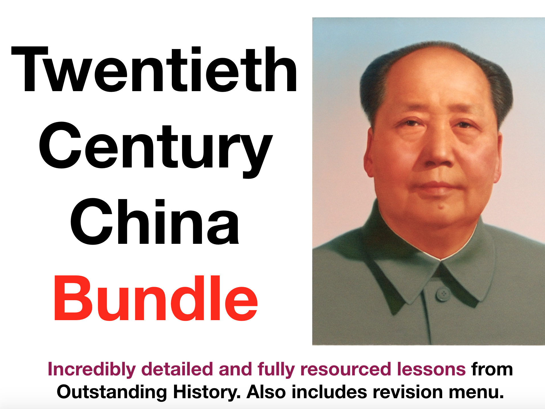 China 1900-1989 - 8 x Lesson Bundle (with Revision Menu)