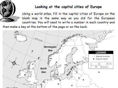 European countries and capitals by andytheedom - Teaching Resources ...