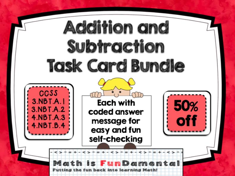 Addition and Subtraction MEGA BUNDLE