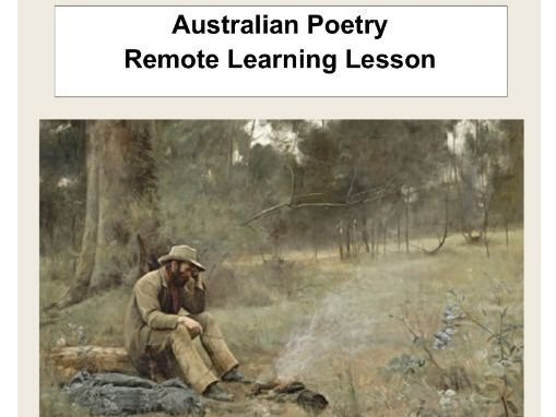 Australian Poetry Remote Learning Lesson