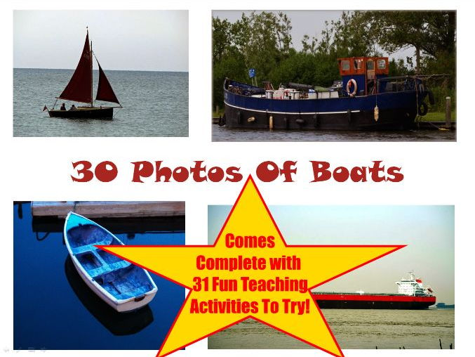 30 Photos and images of Boats PowerPoint Presentation + 31 Fun Teaching Activities To Try In Class!