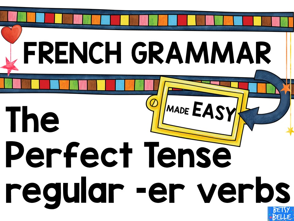 Perfect Tense Presentation and games: regular -er verbs