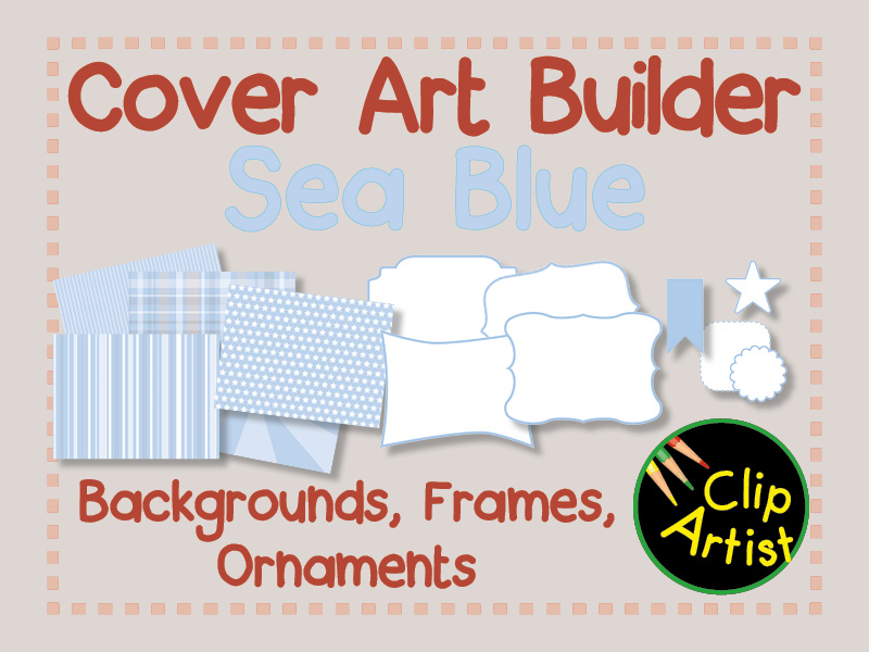 Cover Builder for Authors and Presentations - Sea Blue