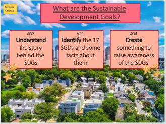 Sustainable Development Goals Lesson