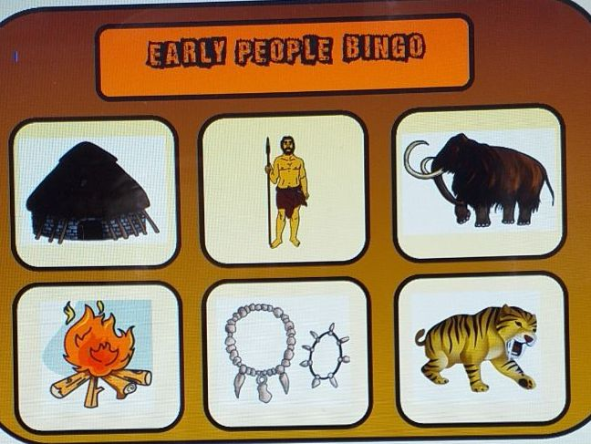 Early People Bingo, Dominoes and Matching Games