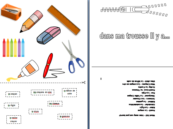 In My Pencil Case French Lesson KS1/2