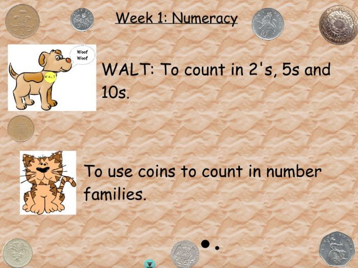 Counting in 2's 5's and 10's