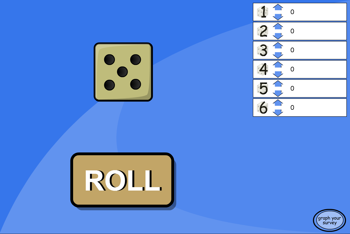 Dice Roll Probability Experiment - Interactive Activity - KS2 Number