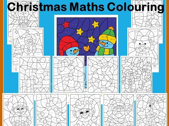 Christmas Maths Calculated Colouring Number Work Teaching Resources