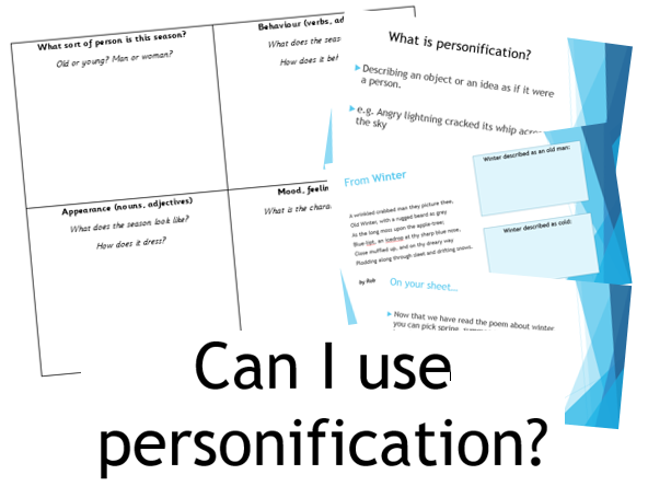 PERSONIFICATION- Create a Season Poem Lesson and Activity