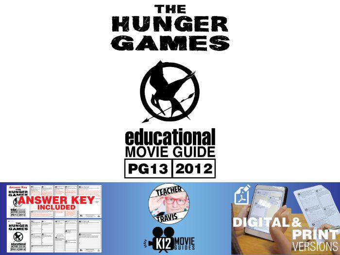 The Hunger Games Movie Guide | Questions | Worksheet (PG13 - 2012)