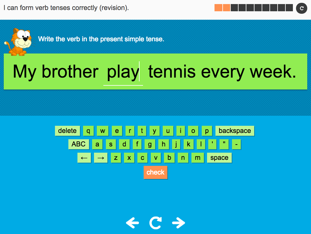 I can form verb tenses correctly (revision) - Interactive Activity - Year 3 Spag