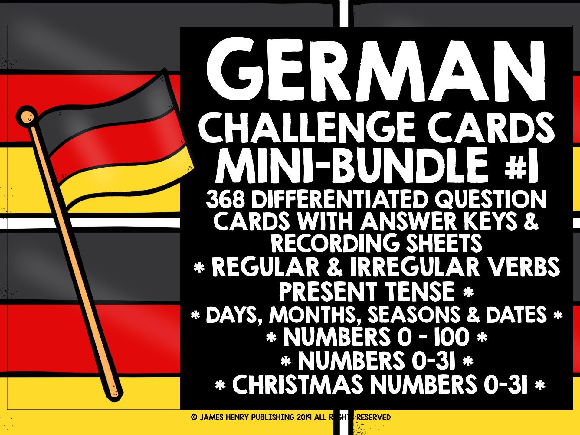 GERMAN CHALLENGE CARDS MINI-BUNDLE #1