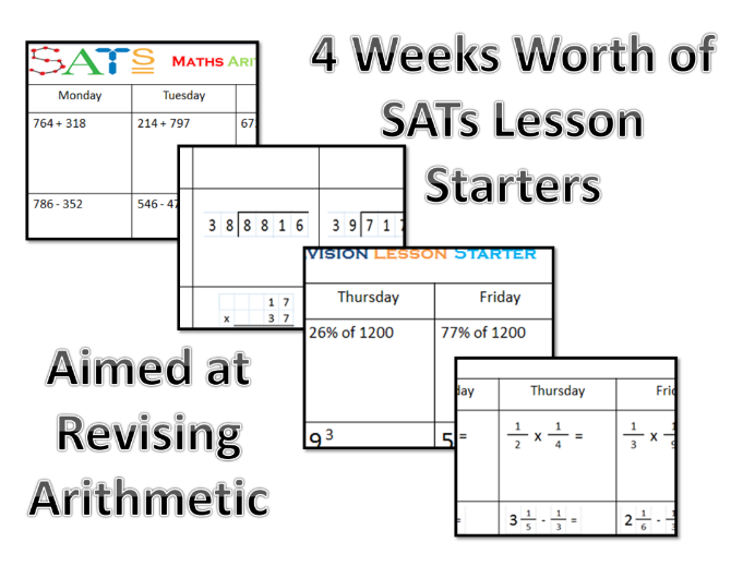 SATs Arithmetic Daily Revision Year 6 - Make sure your class are secure in all areas over 4 weeks