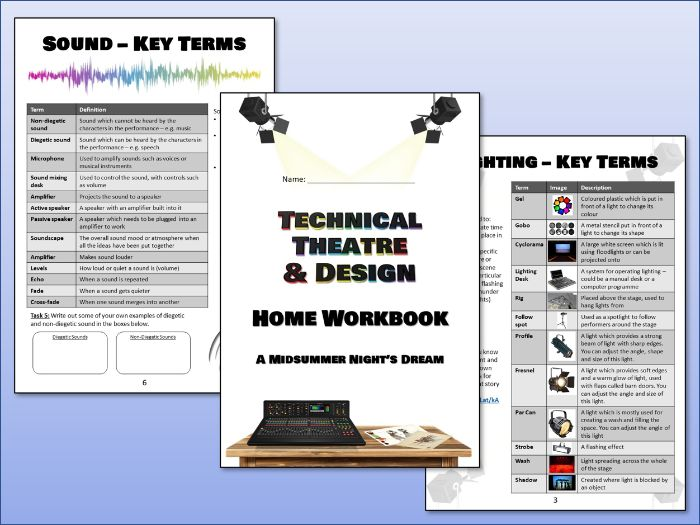 Technical Theatre & Design Home Workbook