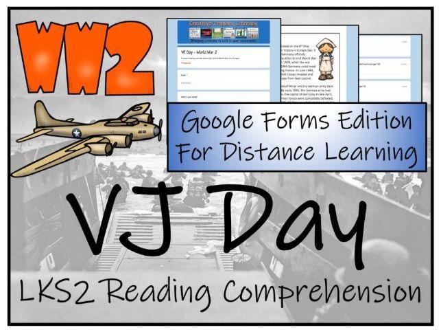 LKS2 Atomic Bombs & VJ Day Reading Comprehension Activity | Digital & Print
