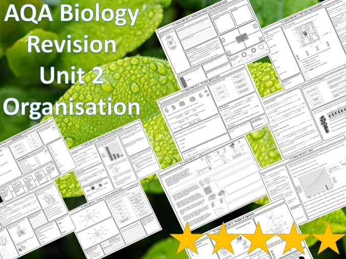 AQA Biology revision 12  Mats/Grids - Unit 2 Organisation - tissues, organs and diseases & answers
